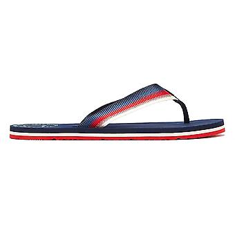 Tommy Jeans Sustainable Womens Navy Flip Flops