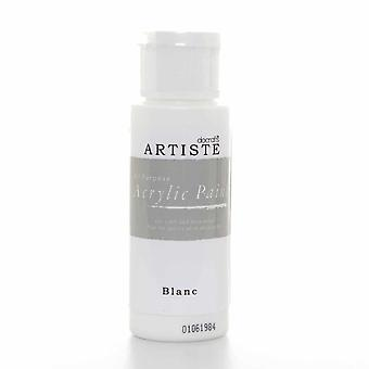 Peinture acrylique Docrafts (2oz) - Blanc (DOO 763260)