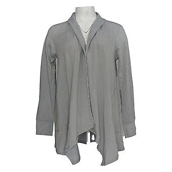 Cuddl Duds Women's Sweater Comfortwear Button Front Cardigan Gray A368077