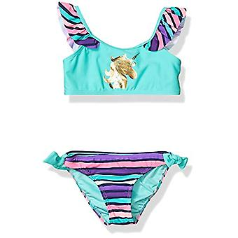 Limited Too Girls' Little Printed Two Piece Swimsuit with Ruffle Trim, Seafoa...