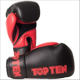 Top ten xlp boxing gloves black/red