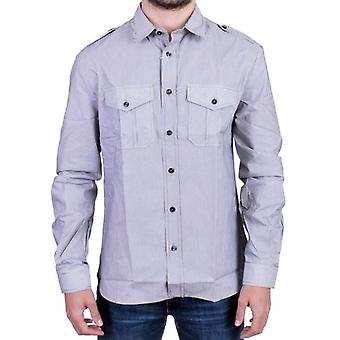 Galliano Blue striped casual shirt -- SIG1306693