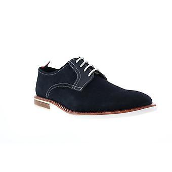 Ben Sherman Brent Plain Toe  Mens Blue Suede Lace Up Oxfords Shoes