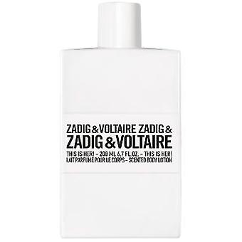Zadig & Voltaire This Is Her! Scented Body Lotion 250 ml