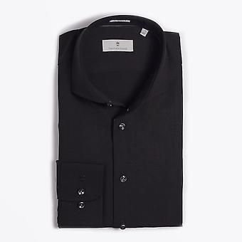 Thomas Maine  - Merino Wool Shirt - Black