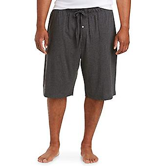 Essentials Men & apos&s Big & Tall Knit بيجامة شورت شورت، -فحم، 6XL