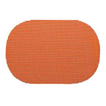 Fishnet Spice Orange Oval Placemat Dz.