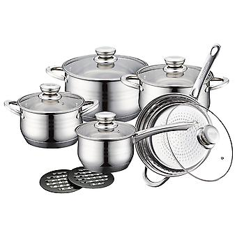 Pot, frying and saucepan set - 5 Pans