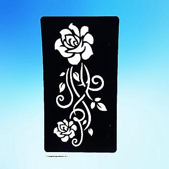 Rose Flower Small Tattoo Stencil -for Body