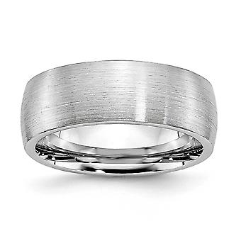 Cobalt Chromium Half Round Graveerbare Satin 8mm Band Ring Sieraden Geschenken voor vrouwen - Ring Size: 7 tot 13