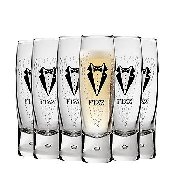 Durobor Gentlemen's Fizz Champagne Glasses - 150ml - Pack of 6 Flutes