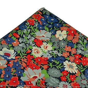 Solmiot Planet Van Buck Navy kukka kuvio tasku neliö tehty Liberty Kangas
