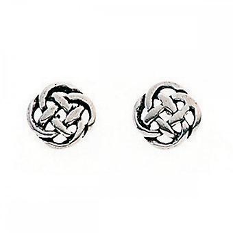 Anfänge Sterling Silber A596 keltische Ohrstecker