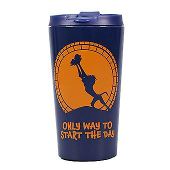 The Lion King Travel Mug Rafiki Logo new Official Blue Metal