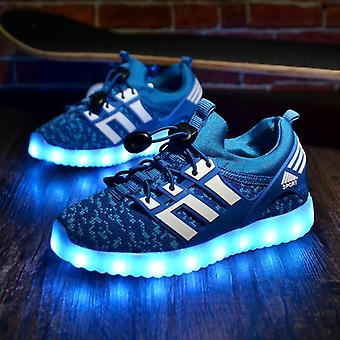 Kids Usb Luminous Sneakers Glowing Lights Up Shoes With Led Slippers