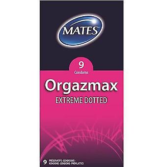 Mates orgazmax extreme dotted condoms pack of 9