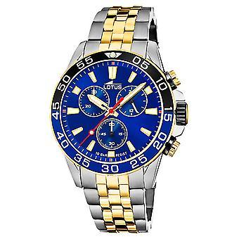 Lotus Men's Two-Tone Steel Bracelet | Blue Chronograph Dial L18767/1 Watch