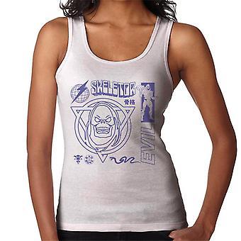 Masters of the Universe Skeletor Paha Violetti Teksti Women's Vest