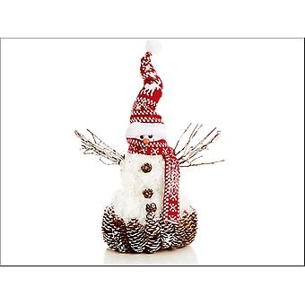Premier Decorations Sparkle Snowman + Red Hat 35cm AC155642