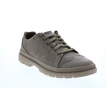 Skechers Roadout Pelson Mens Gray Canvas Lifestyle Sneakers Shoes
