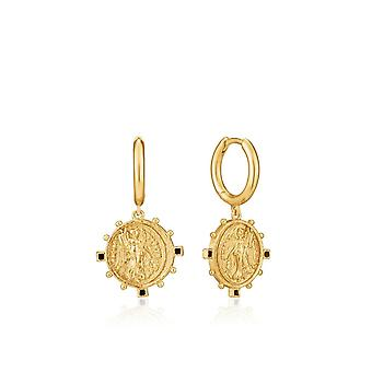 Ania Haie Gold Digger Shiny Gold Victory Goddess Mini Hoop Earrings E020-04G