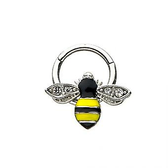Ohrknorpel & Septum Segment Ring mit Bienendesign 16ga chirurgischen Stahl bj16428
