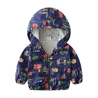 Vêtements d'extérieur pour garçons Clothe, Autumn Kid Jacket Hooded Coat, Spring Windbreaker