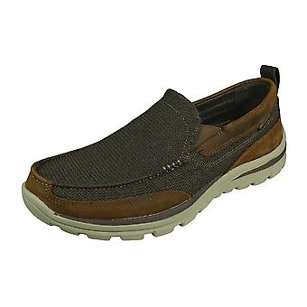 Skechers Superior Milford Mens Slip On Shoes Relaxed Fit - Brown