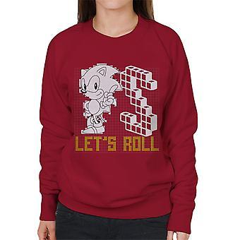 Sonic der Igel S Cube Lets Roll Frauen's Sweatshirt