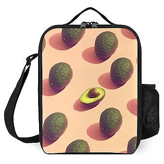 فاكهة الأفوكادو بوتريت طباعة أكياس الغداء المعزولة مربع الغداء