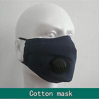 قابل للغسل الفم PM2.5 مع القطن صمام التنفس الأسود