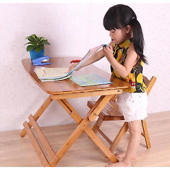 Adjustable Study Table Folding Bamboo Writing Desk Student Learning Table With