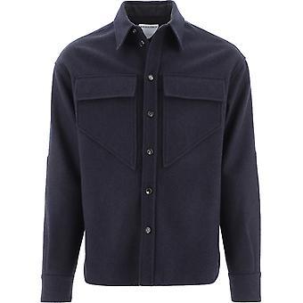 Bottega Veneta 647383v0bj04330 Heren's Blauw Katoenen Shirt