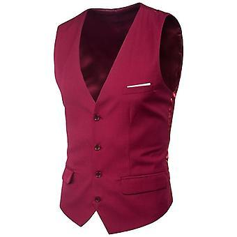 Vest Men, Spring, Slim Fit Sleeveless, Waistcoat Mens Formal Business Wedding