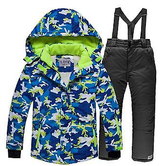 Gyermekek szélálló meleg síszett, beleértve a kabátot és a nadrágot
