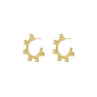 Joma Jewellery Zahra Gold Zirconia Hoop Earrings 4456