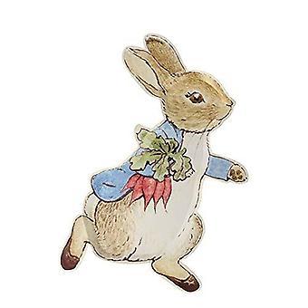 Meri Meri Peter Rabbit Shaped Paper Party Plate x 12