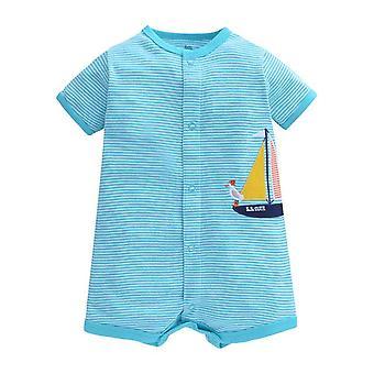 Bebê Cotton Romper , Design de Barco