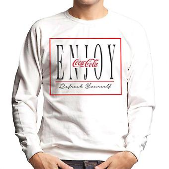 Coca Cola Enjoy Red Outline Men's Sweatshirt