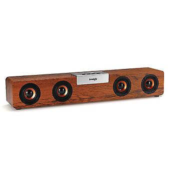 Smalody SL90 20W TWS Portable Wooden bluetooth 5.0 Speaker Soundbar Bass Music Box Support FM