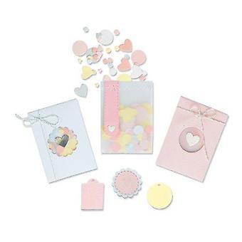 Sizzix Thinlits Die Set - 8pk Confetti Pocket 665069 Lisa Jones
