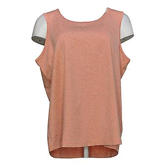 Anybody Women's Top Move Active Stretch Jersey Tank Orange A349819