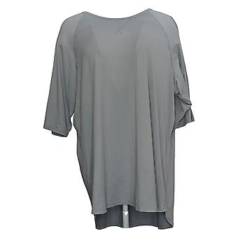Cuddl Duds mujeres's Top Plus Smart Comfort camiseta corta gris A346880