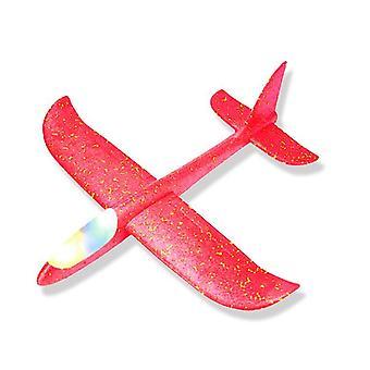 Käsinheitto vaahto hinaus lentokone malli lelu & valoisa kone valolla