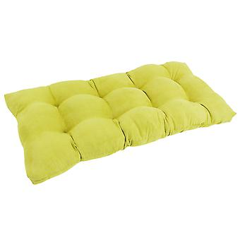Coussin Loveseat 42 pouces par 19 pouces carrés Micro Suede Tufted Loveseat - Mojito Lime