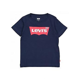 Lasten lyhythihainen T-paita Levi's Batwing Tee Navy Blue/5 Years