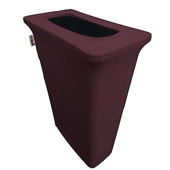 La Linen Stretch Spandex Trash Can Cover For Slim Jim 23-Gallon, Eggplant