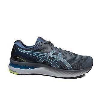 Asics Gel-Nimbus 23 Charcoal Grey/Aqua Mesh Mens Running Trainers