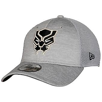 Black Panther Symbol Grey Shadow Tech New Era 39Thirty Chapeau ajusté