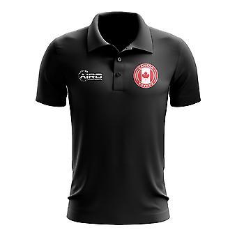 كندا لكرة القدم بولو قميص (أسود)